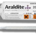 Aplicación del adhesivo epoxi Araldite 2031 en diferentes sustratos.