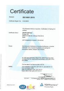 iso 9001-2015 antala