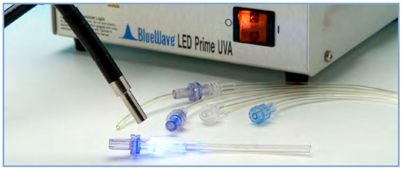 adhesivos para dispositivos médicos curado por luz para LED