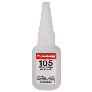 Permabond 105 Adhesivo de cianoacrilato para uniones de goma