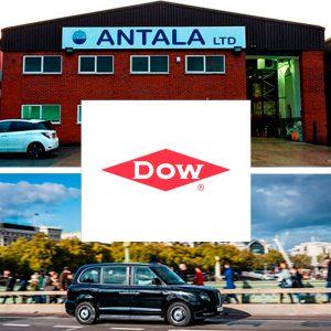 Antala y Dow Automotive colaboran en el diseño de los nuevos taxis eléctricos de UK