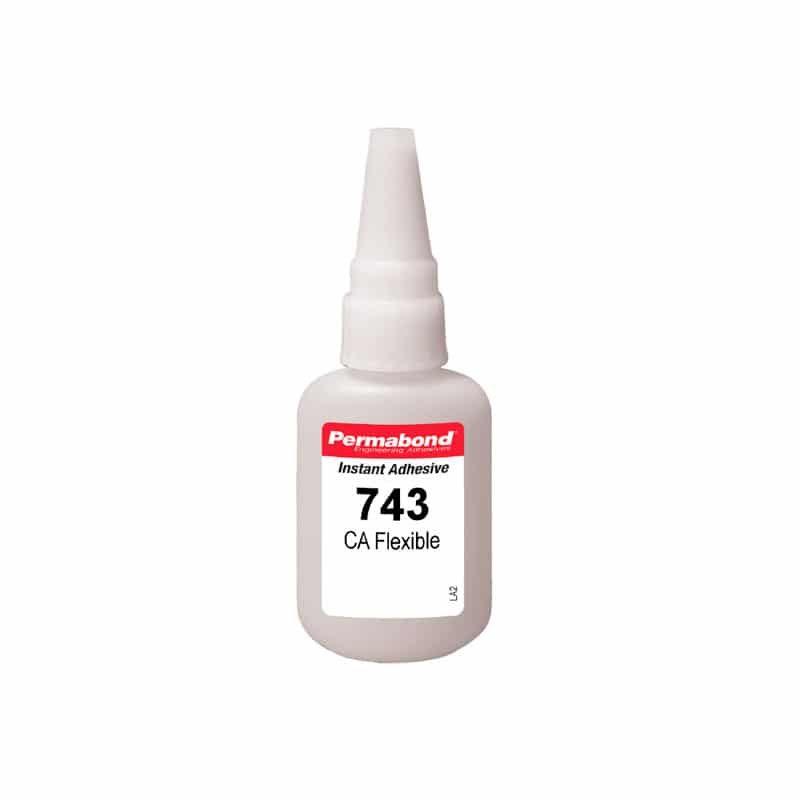 Permabond 743 Adhesivo cianoacrilato flexible