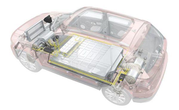 Adhesivos para baterias de coches electricos