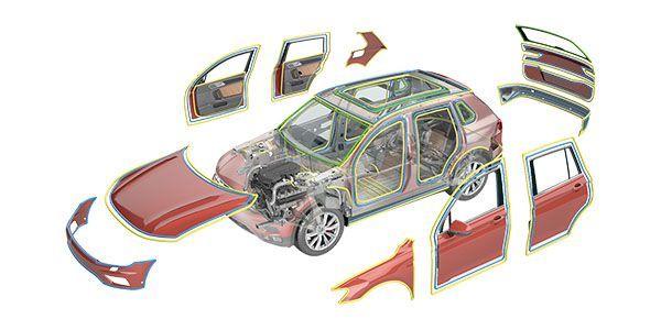 Adhesivos para sellados de coches